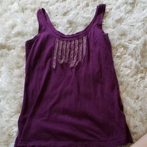 Size XS Old Navy purple tank with gold detail